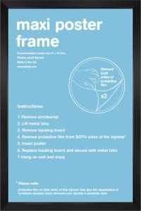 24'x36' Black Poster Frame