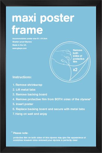 24'x36′ Black Poster Frame