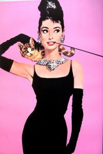 ER4135-Audrey Hepburn-Pink