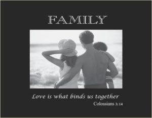 3105 SB-Family  small Black Hor-religious verse