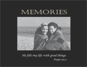 3111 SB-Memories  small Black Hor-religious verse