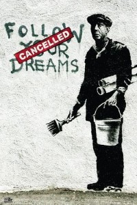ER6392 BANKSY-FOLLOW YOUR DREAM