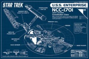 PW51133-Star Trek Enterprise Blueprint