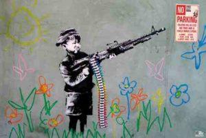 ER6951p-Banksy-GRAFFITTI CRAYON SHOOTING