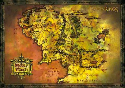 Lord of the Rings – Map of Middle Earth