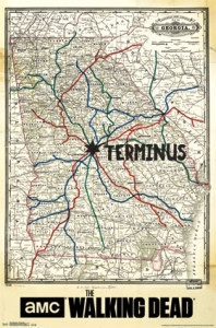 RP13739 Walking Dead - Terminus Map