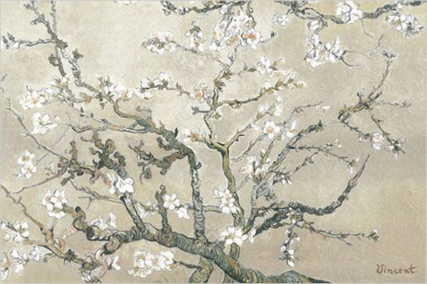 1500-0152 Almond Branches in Tan, San Remy, det – van Gogh
