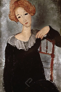 1500-1285 Woman with red hair-Modigliani, Amedeo