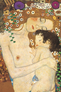 1500-2776 Three Ages Of Woman, Mother and Child (1905)-Gustav Klimt