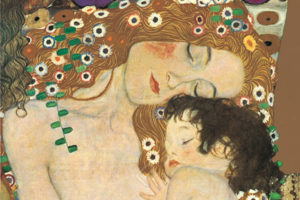 1500-9007 Three Ages Of Woman, Mother and Child (1905), detail-Gustav Klimt