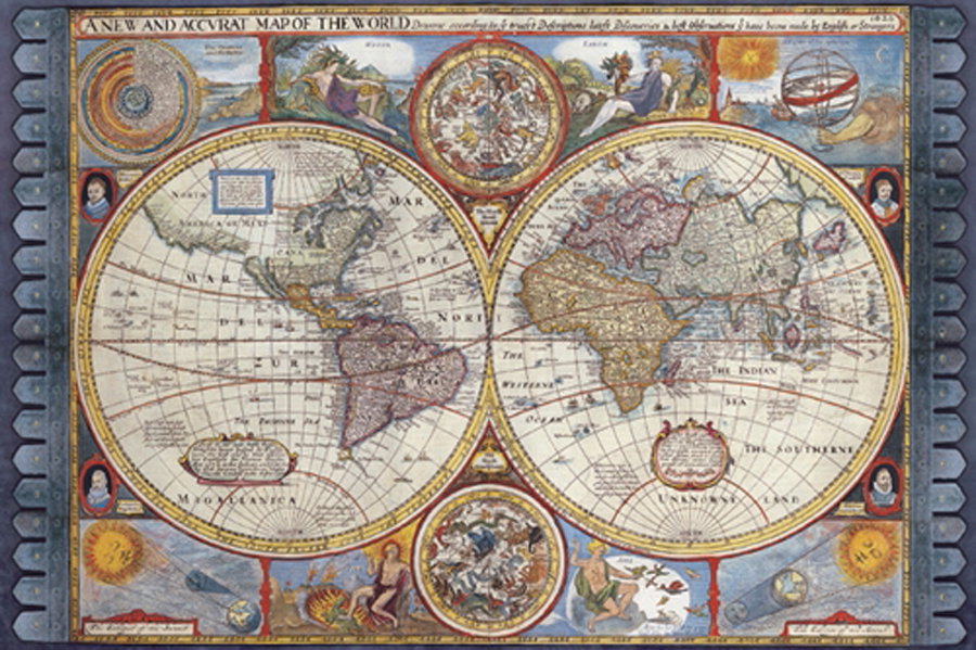 A new and accurate map of the world athena posters 1500 2006 a new and accurate map of the world gumiabroncs Images