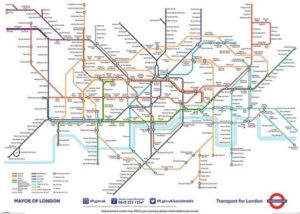 ER3635  LONDON UNDERGROUND MAP