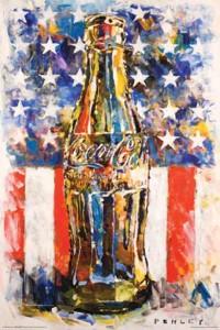 ER5683  COCA COLA FLAG ART