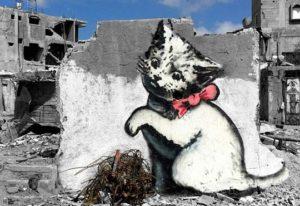 ER7030 GRAFFITTI KITTEN IN WAR