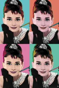 ER6617 AUDREY HEPBURN POP ART