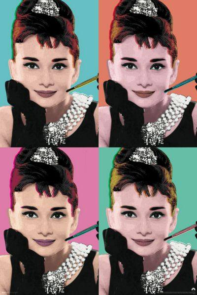 Audrey Hepburn Pop Art - Athena Posters