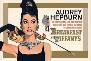 ER6849 AUDREY HEPBURN BREAKFAST AT TIFFANY'S GOLD