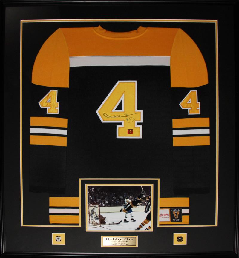 Shop / Sports Art / Hockey / Bobby Orr Boston Bruins signed black ...