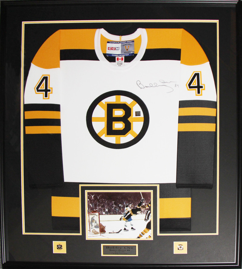 outlet store a5291 971f2 Bobby Orr Boston Bruins signed white jersey