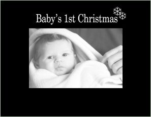 3065 SB-baby's first Christmas  small Black Hor