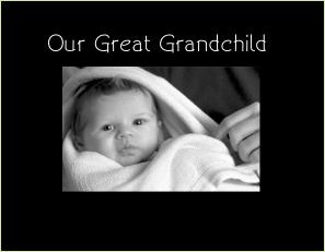 3066 SB - Our Great Grandchild  Sml Blk