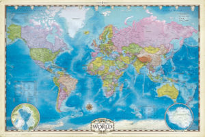 2400-0557 Map of the World
