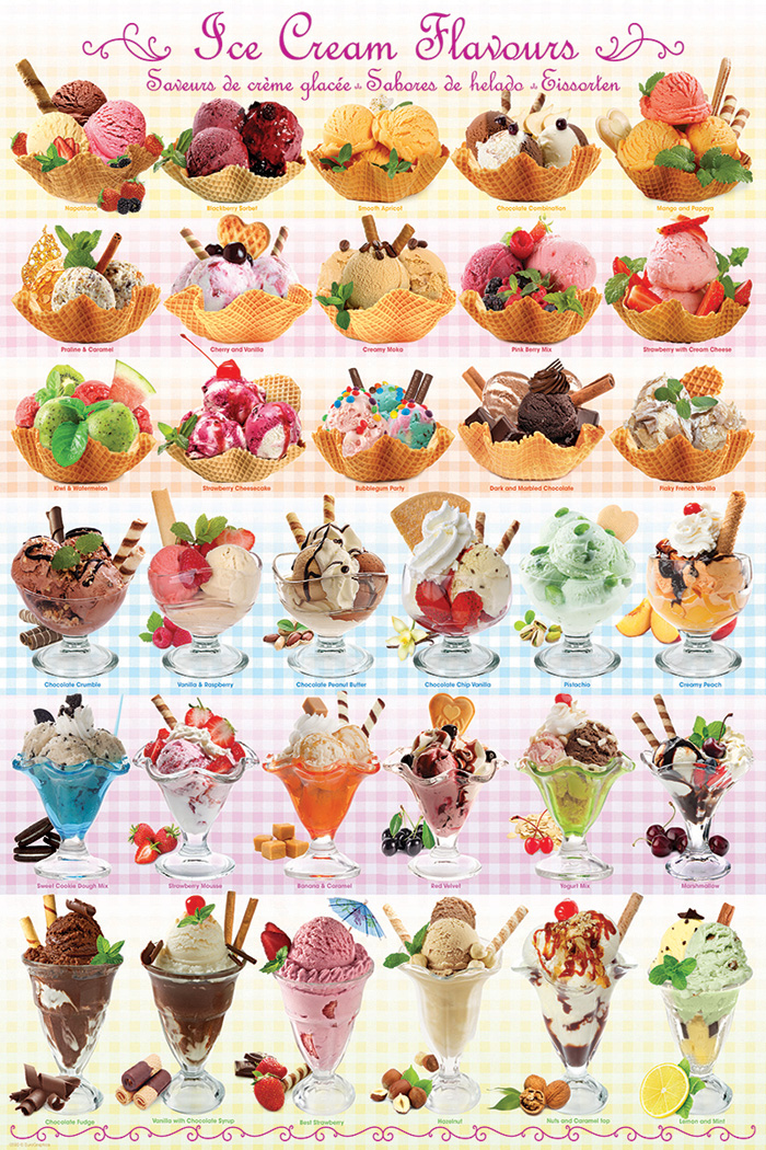 Ice Cream Flavours Athena Posters