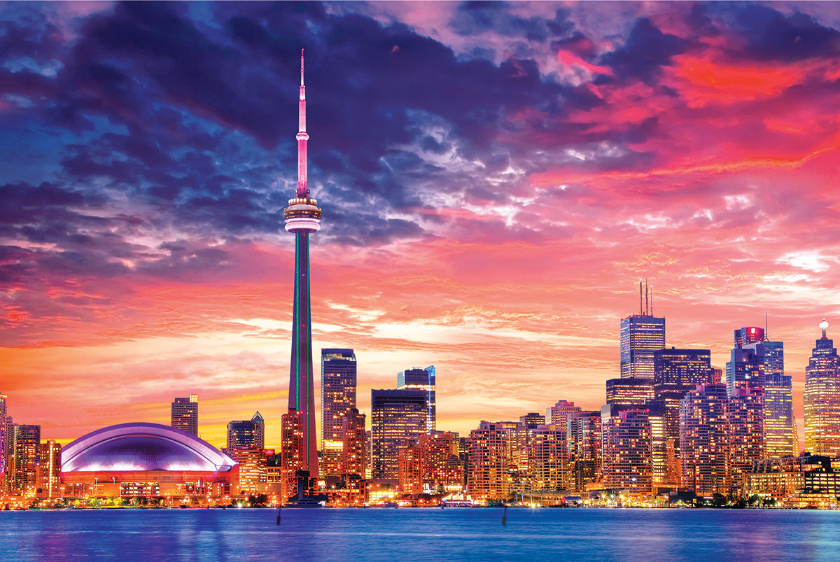 Toronto Skyline Photography Poster 24 x 36 inches
