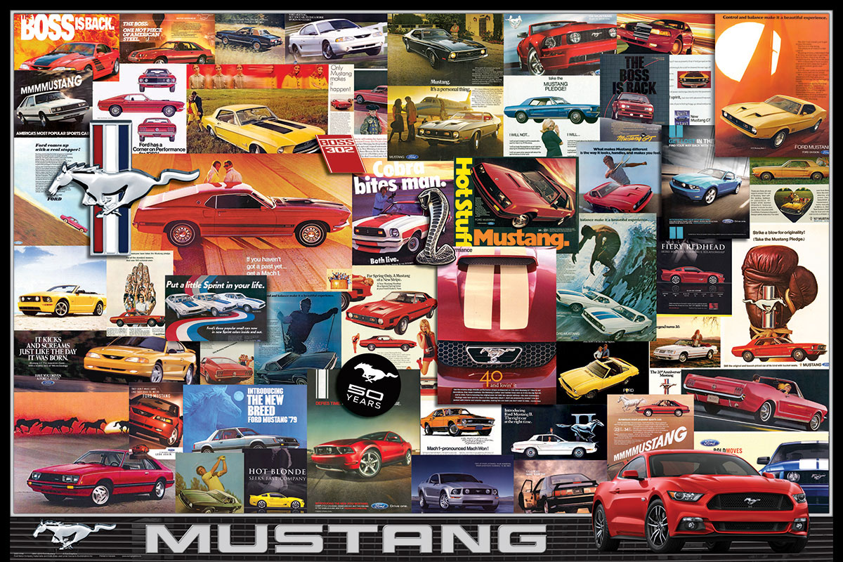 Ford Mustang Vintage Ads Athena Posters