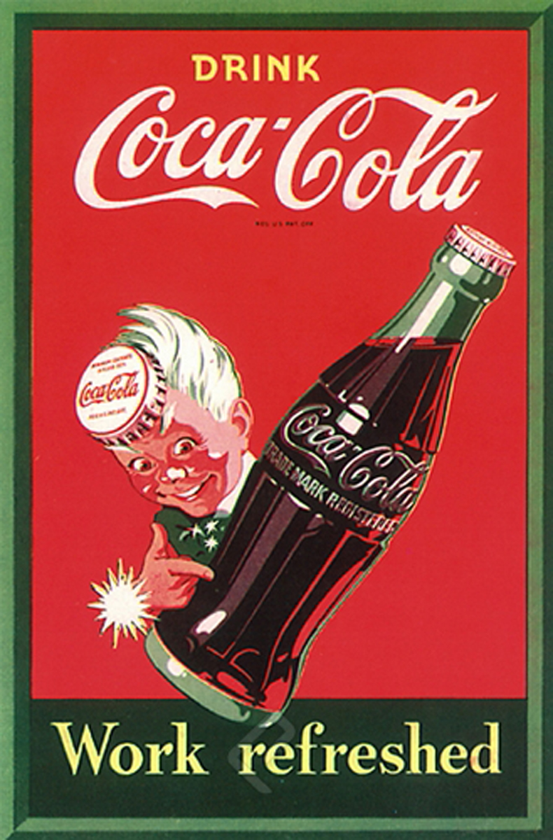 Drink Coca Cola- Work Refreshed - Athena Posters