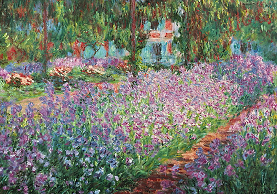 Le jardin de monet a giverny monet athena posters for Jardines monet