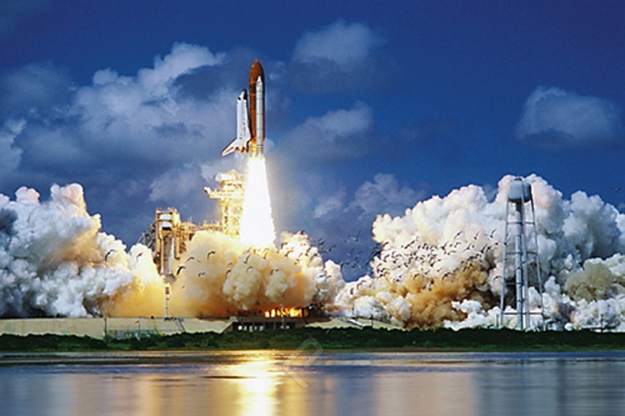 Space Shuttle Take-off...