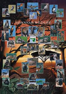 2450-4920 Savannah Wildlife 26.75 x 38.5 in