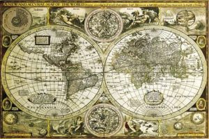 ER5883 WORLD MAP Historical