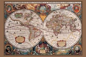 ER6109 WORLD MAP 17th Century