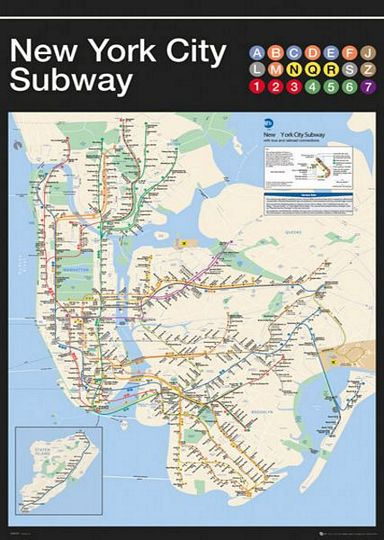 Ny 2017 Subway Map.Ny Subway Map Full Network