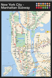 ER6705 NY SUBWAY MAP Manhattan