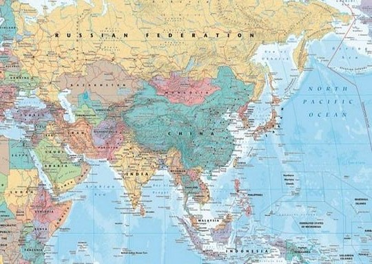 WORLD MAP Asia Middle East Athena Posters - Where is asia