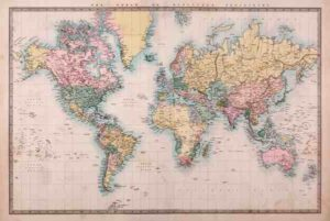ER6734 WORLD MAP Mercators