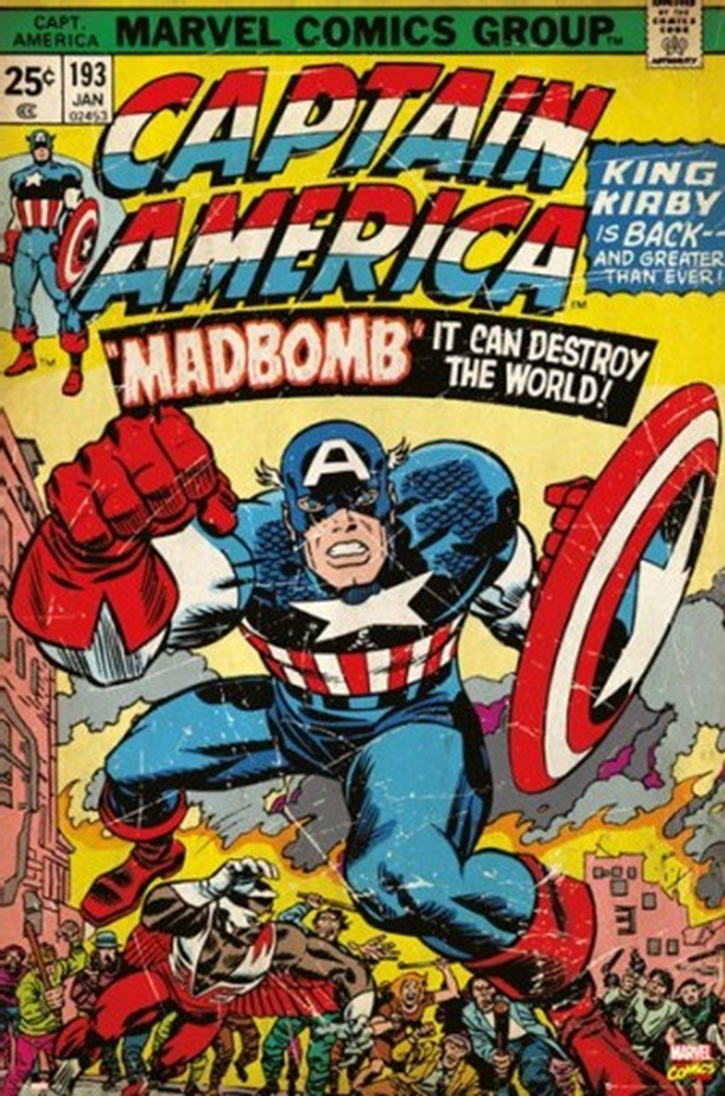 Classic Comic Book Cover Prints : Captain america marvel comic book cover madbomb athena