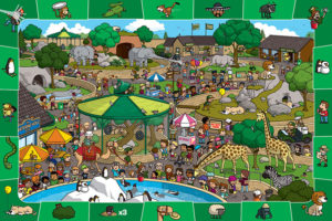 2400-0542-A Day at the Zoo Spot & Find-36x24