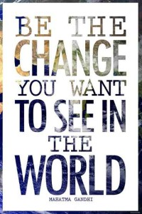 ER7513 Be the Change Quote