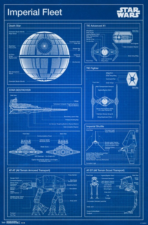 RP14459 Star Wars Imperial Blueprint