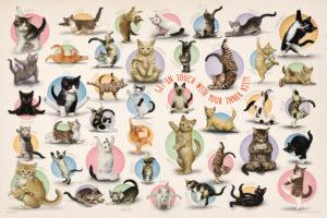 2400-0991-Yoga Kittens-36x24