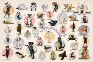 2400-0992-Yoga Puppies-36x24