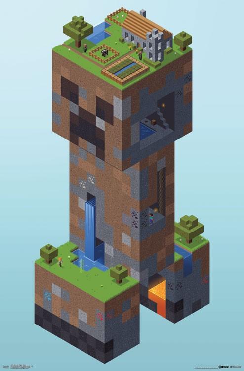 Minecraft Creeper Village Athena Posters