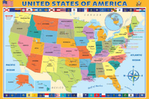 2400-0651-Map of the United States of America-36x24