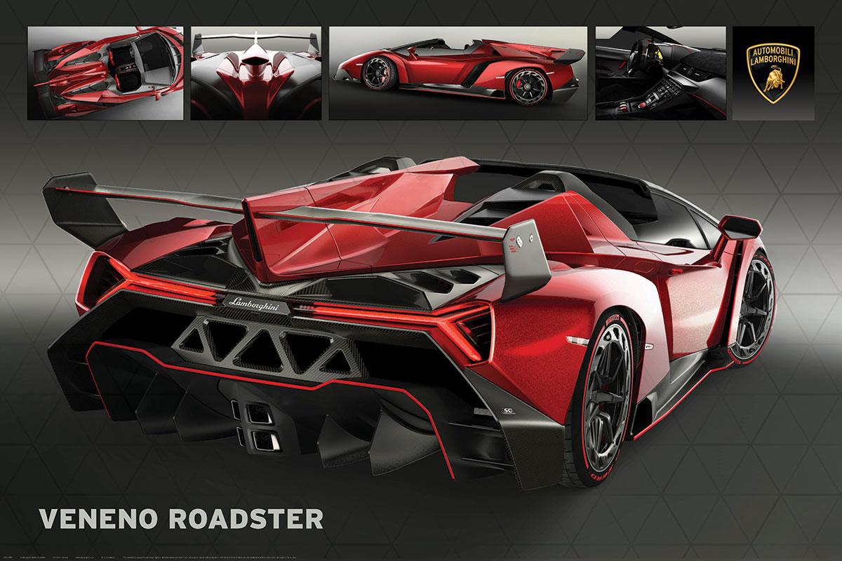 Lamborghini Veneno Roadster Athena Posters