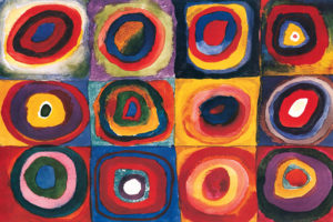 2400-1323-Color Study of Squares and Circles-24x36