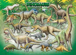 2450-009811-Dinosaurs Cretaceous-36x24